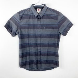 NWT Quiksilver Shirt Mens Large Gray Modern Fit